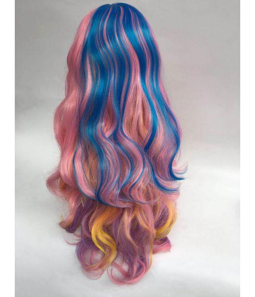Pastel Rainbow Wig Long
