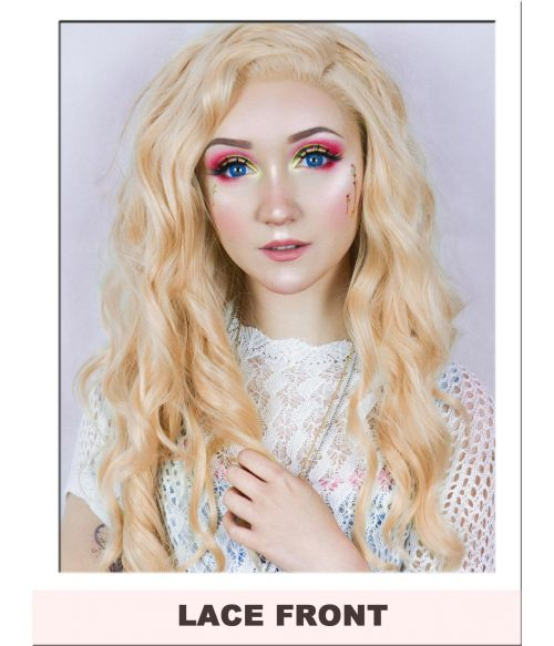 Peach Blonde Wig Lace Front