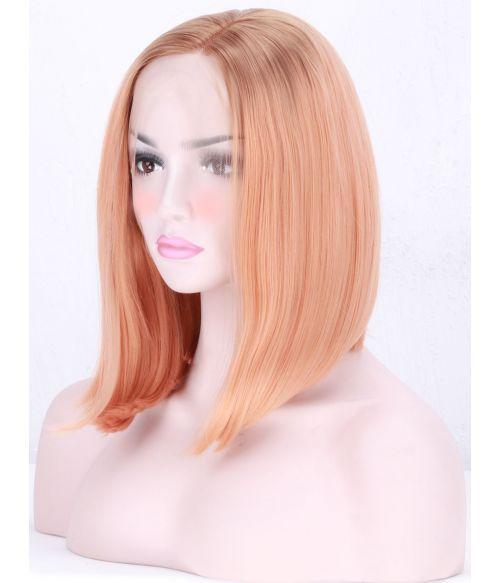 Peach Wig Bob Lace Front