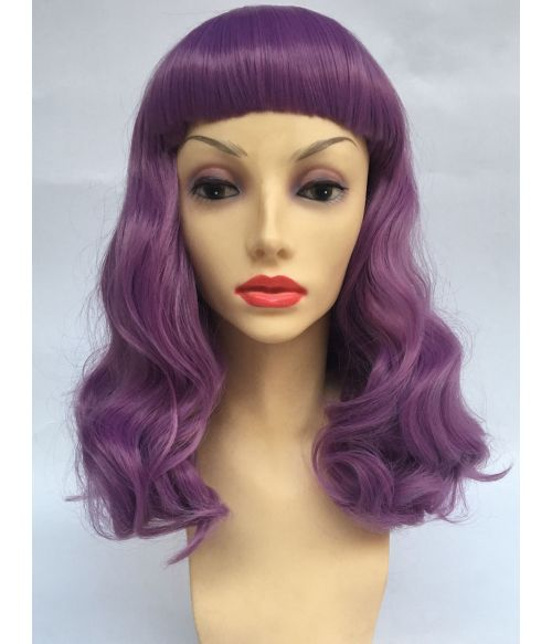 Pin Up Wig 50s Purple