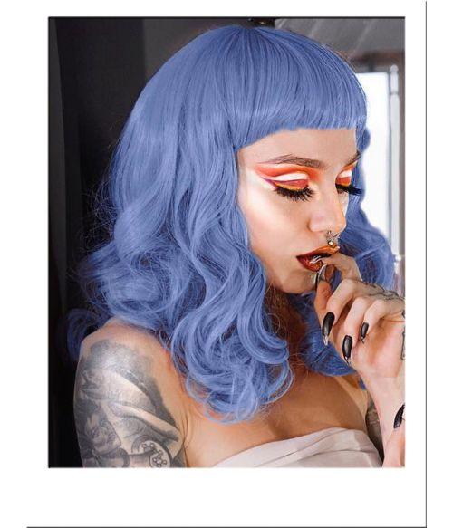 Pin Up Wig Blue