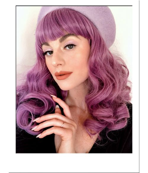 Pin Up Wig Purple