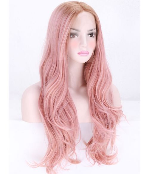 Pink Lace Front Wig Rose Gold