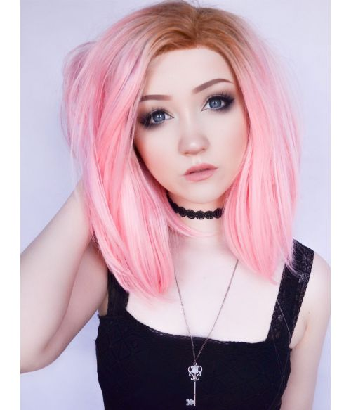 Pink Wig Short Lace Front