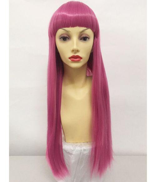 Pink Wig With Fringe
