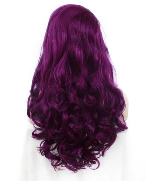 Purple Lace Front Wig Long