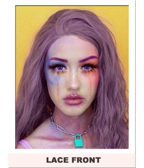 Purple Lace Front Wig Mauve