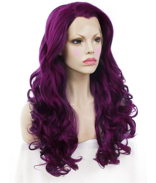 Purple Lace Front Wig Plum