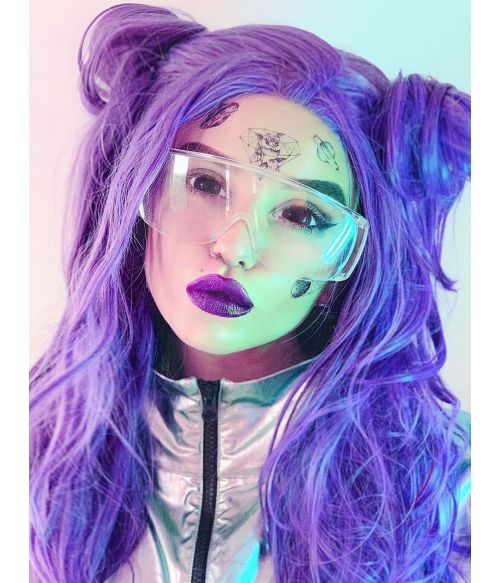 Purple Wig Lace Front