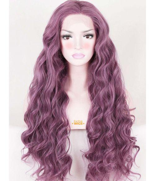 Purple Wig Lace Front Mauve