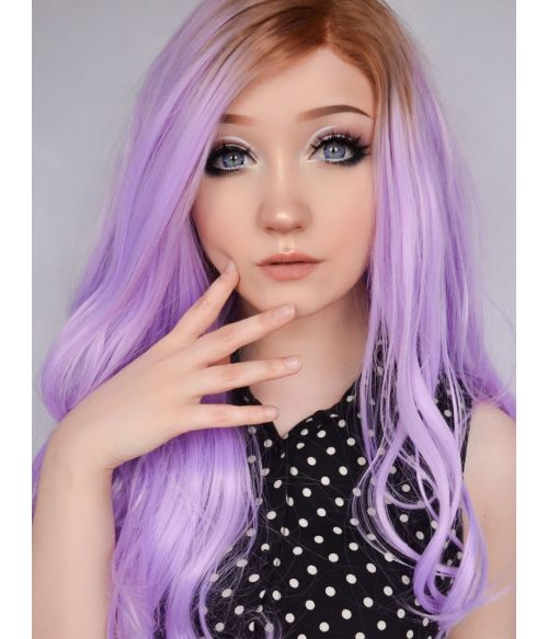 Purple Wig Lilac Lace Front
