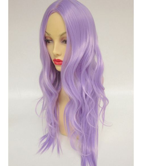 Purple Wig Long Pastel
