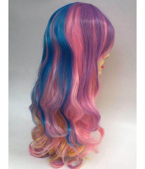 Rainbow Wig Long Wavy