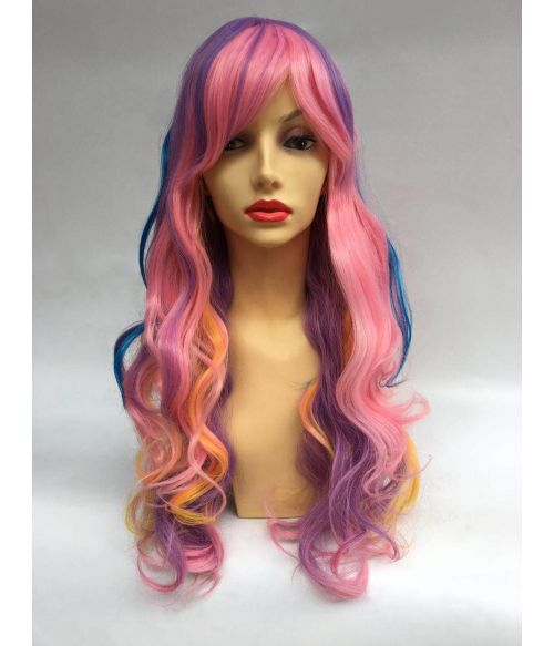 Rainbow Wig Pastel Long