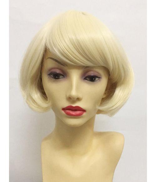 Short Blonde Bob Wig With Fringe