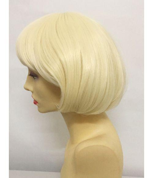 Short Bob Wig With Bangs Blonde
