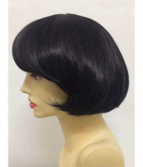 Short Wig Black With Bangs