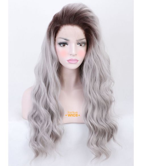 Silver Grey Lace Front Wig