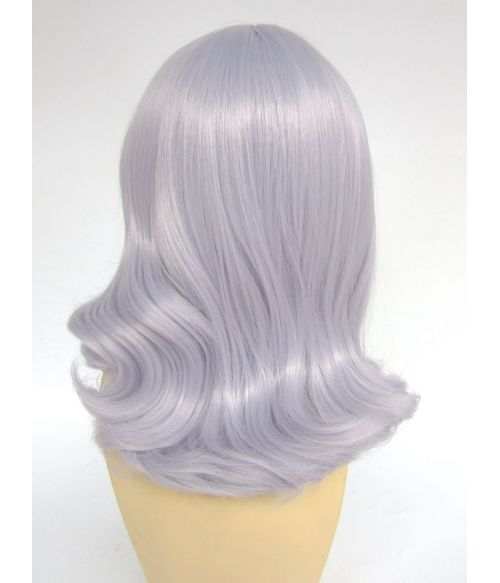 Silver Mid Length Wig Metallic