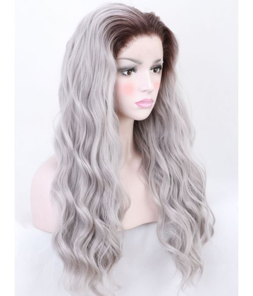 Wavy Silver Lace Front Wig