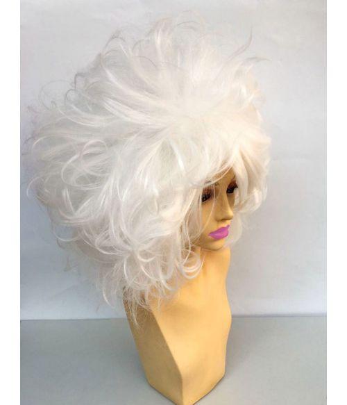 White Drag Wig Big Hair