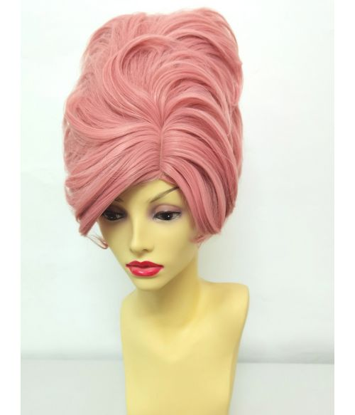 1960s Wig Pink Bouffant