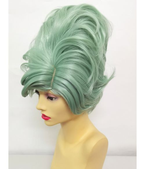 60s Hair Wig Green