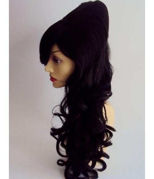 60s Wig Beehive Black