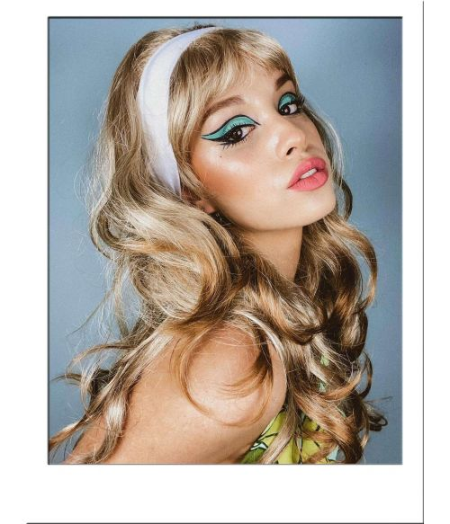 60s Wig Blonde Long Curly Beehive