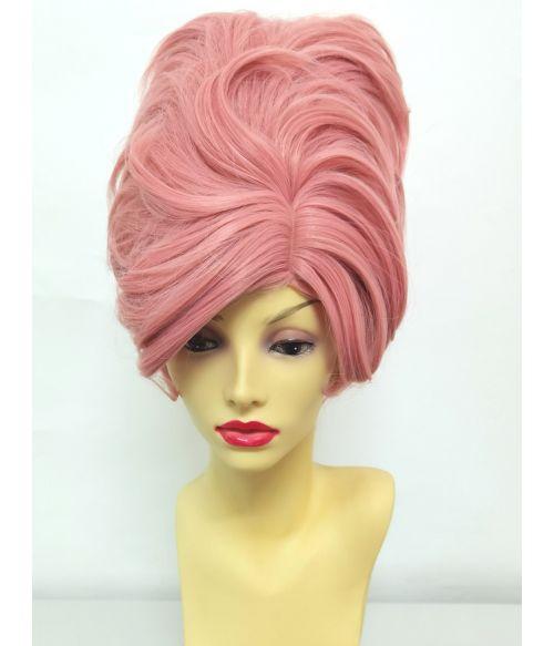 60s Wig Pink Beehive