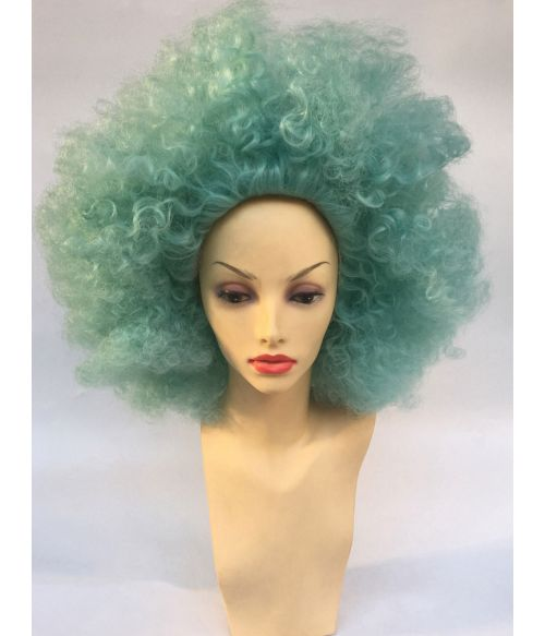 Afro Wig Green Curly