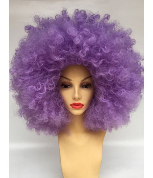 Afro Wig Purple Large