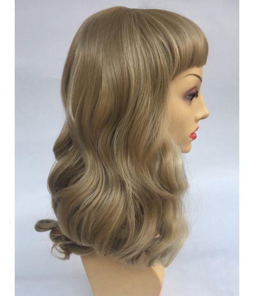 Bettie Bangs Wig Blonde
