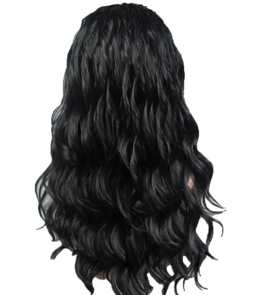Black Lace Front Wig Wavy