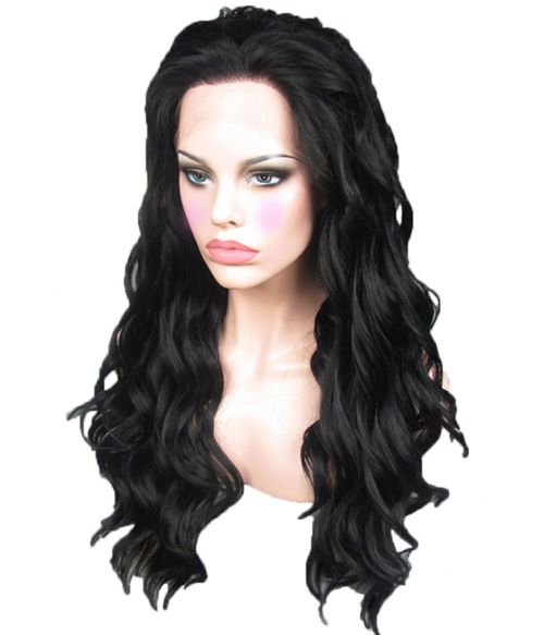 Black Wig Lace Front Curly