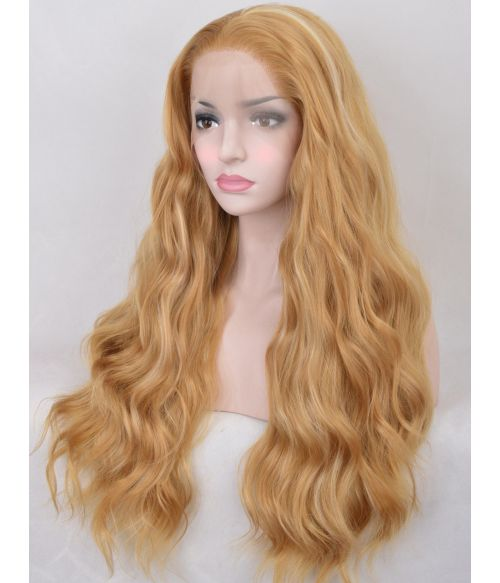 Blonde Wavy Lace Front Wig