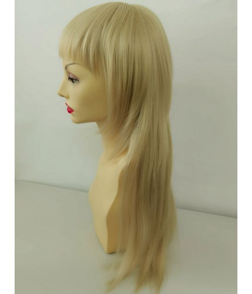 Blonde Wolf Cut Mullet Wig With Bangs