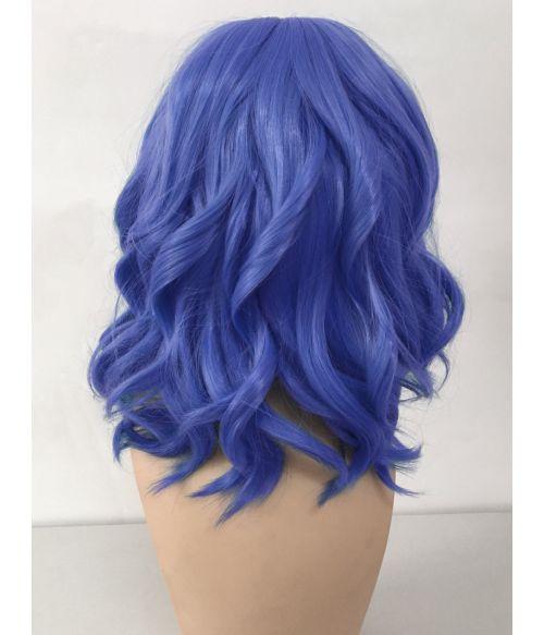 Blue Bob Wig Wavy