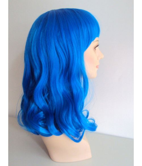Blue Wig Curly Cosplay
