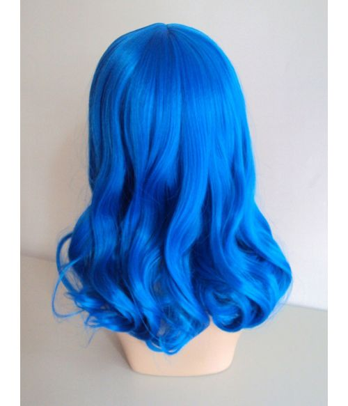 Blue Wig Curly Halloween