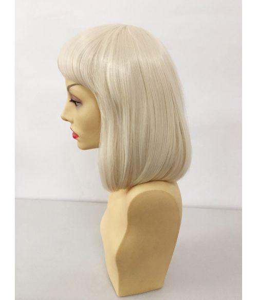 Bob Wig With Bangs Blonde
