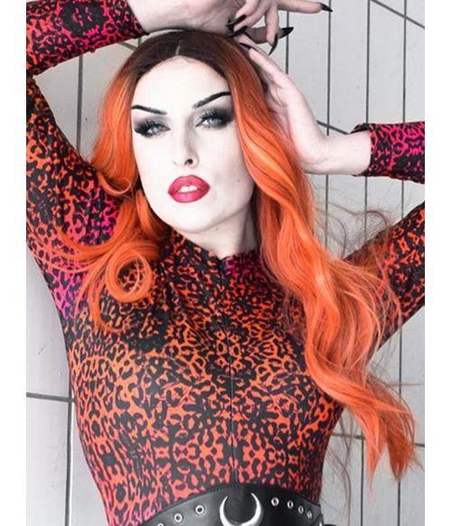 Bright Orange Lace Front Wig