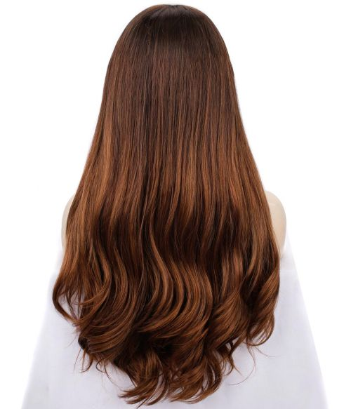 Chestnut Brown Balayage Wig Lace Front