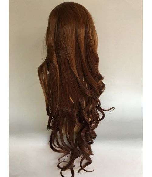 Brown Highlighted Wig Auburn