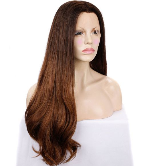 Brown Balayage Wig Centre Part Lace Front