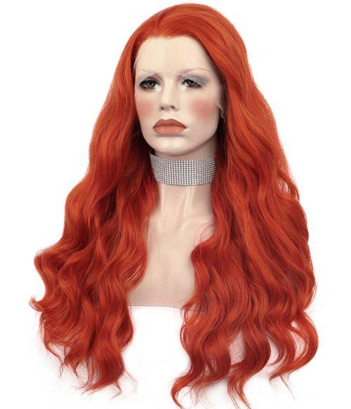 Burnt Orange Lace Front Wig Long
