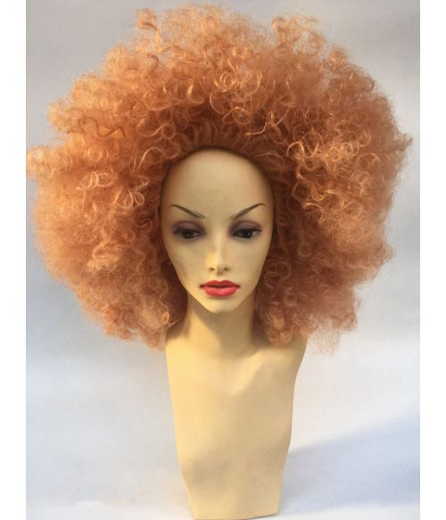 Colored Afro Wig Peach