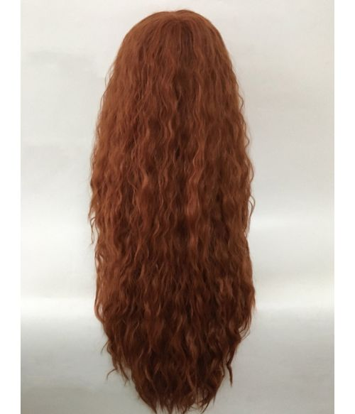Crimped Wig Curly Red