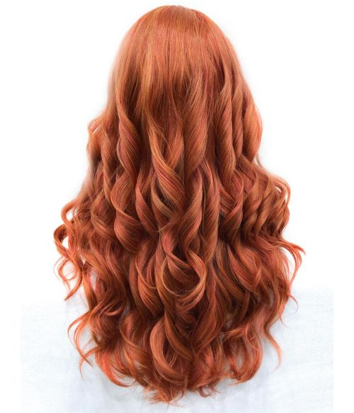 Ginger Red Wig Natural Lace Front