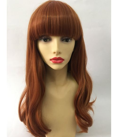Ginger Red Wig With Bangs